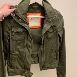 Green Abercrombie kids jacket